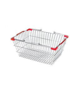 Shopping Basket Chrome