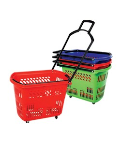 Rolling Shopping Basket