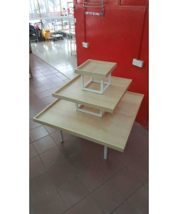 Oppa - 3 Level Fountain Table Square White