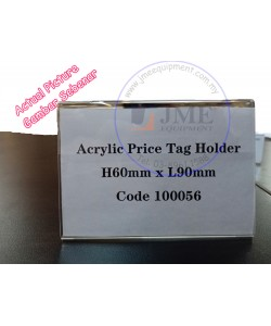 Acrylic Table Price Tag Holder 90mm L x 60mm H