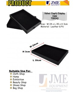 (JME)Velvet Empty Accessories display case