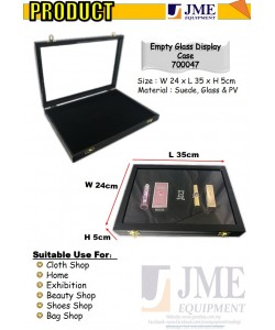 (JME)Empty Glass Accessories display case