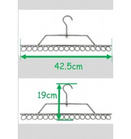 17 holes Ring Hanger for Tudung Scaft underwear socks